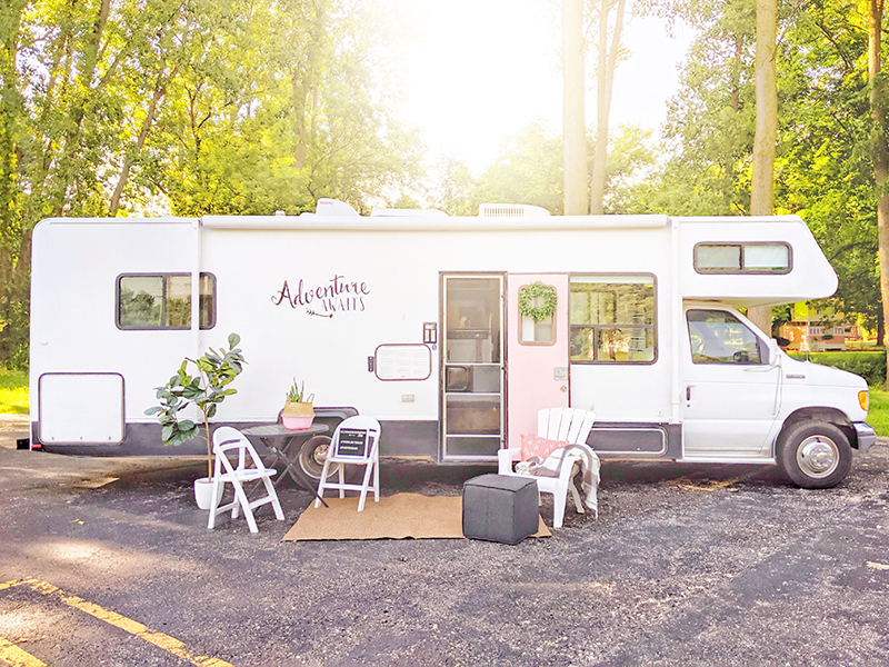 Motorhome Makeover with Painted Exterior