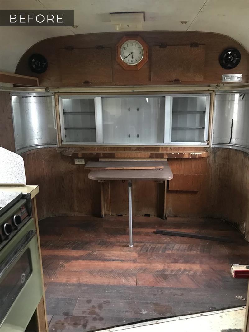 Vintage trailer before remodel
