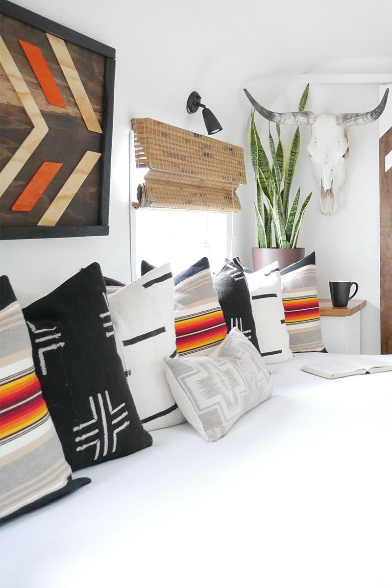 Pendleton-inspired camper remodel