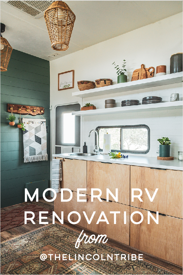 Peek inside this family-friendly Toy Hauler remodel with an earthy, modern interior