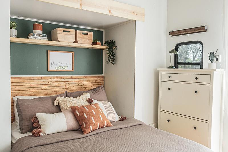 Earthy Modern RV Bedroom Remodel
