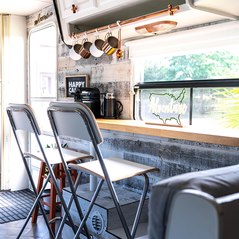 Modern Country Camper Interior