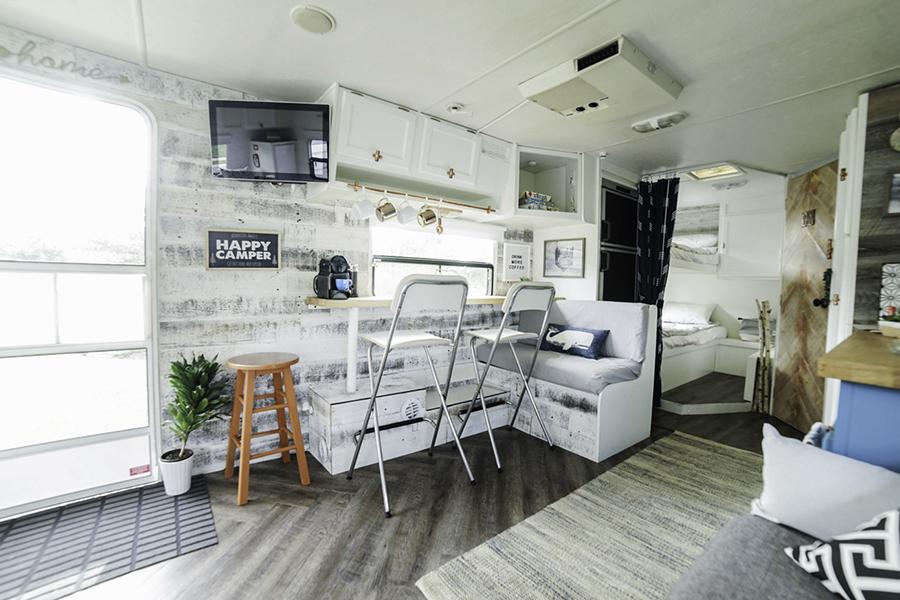 modern country travel trailer renovation