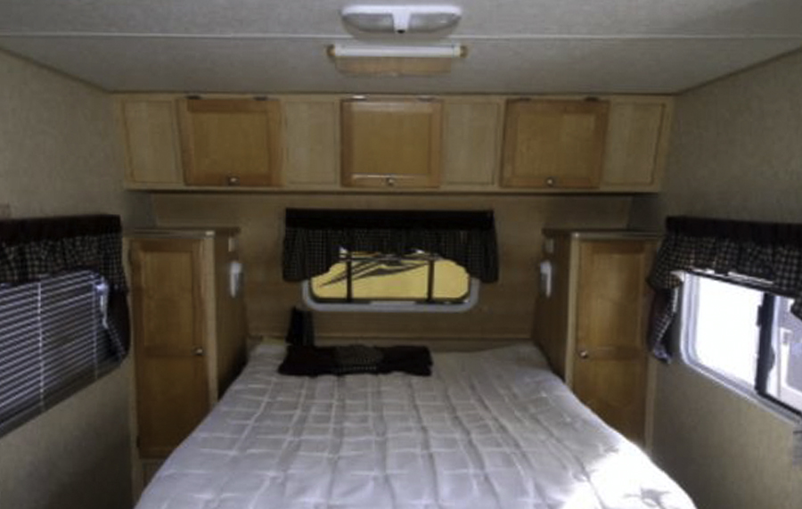 Travel Trailer Bedroom Before Reno Photo