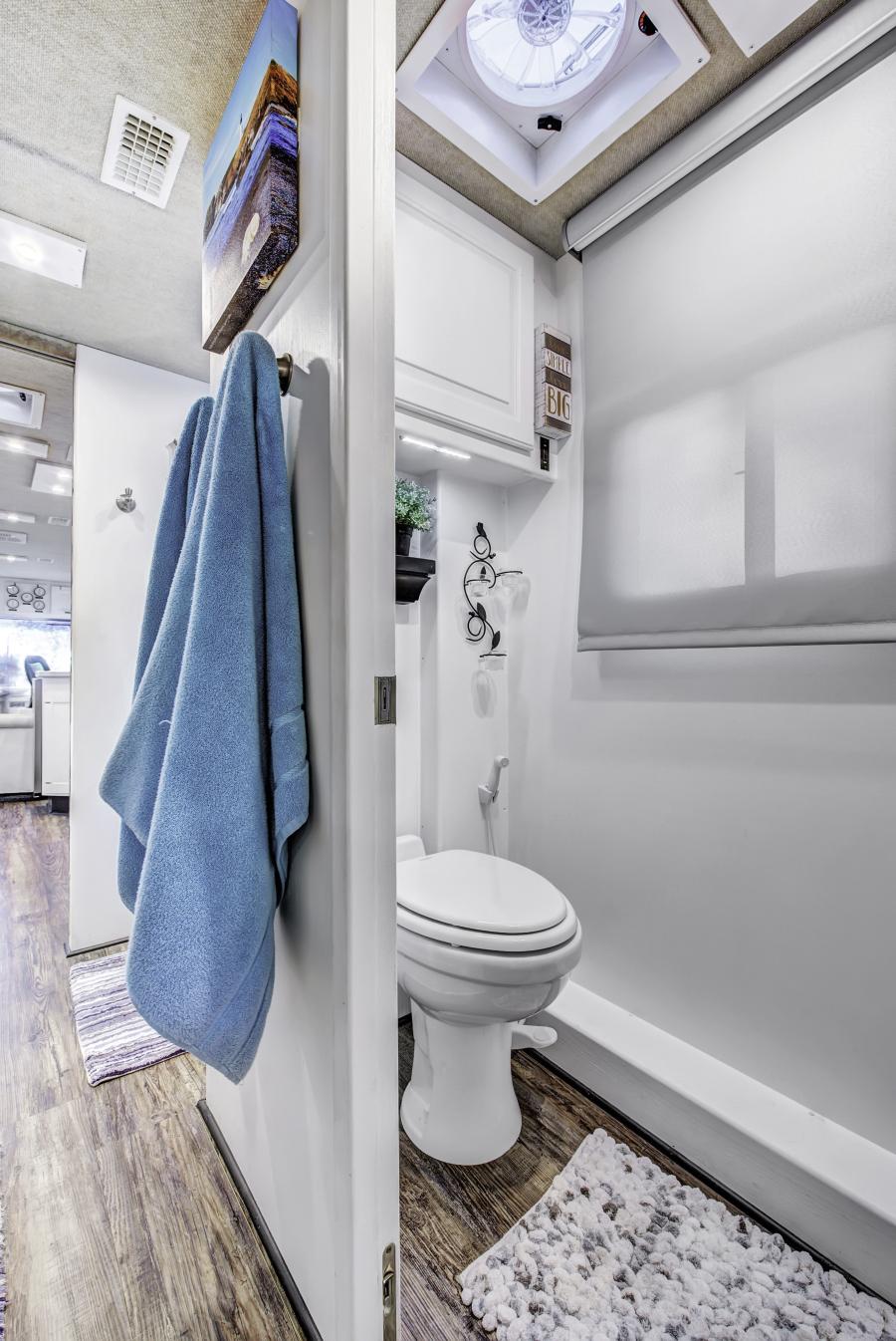 contemporary RV bathroom