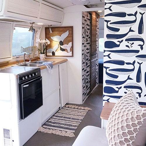 nautical vintage camper design
