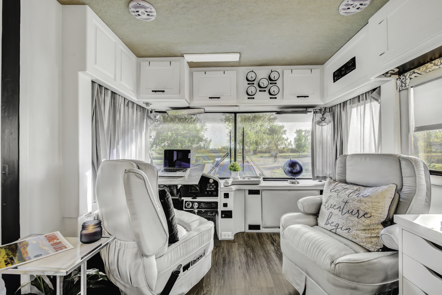 Contemporary RV Remodel featuring RVLove