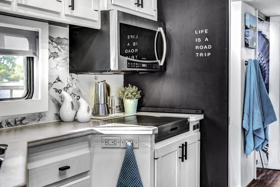 Contemporary RV Kitchen Renovation featuring RVLove