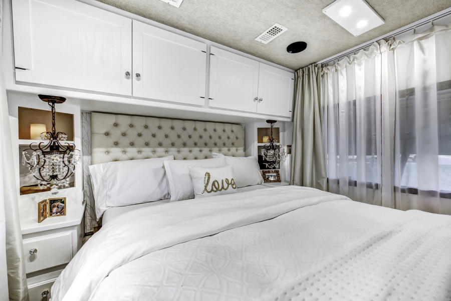 Glam RV Bedroom