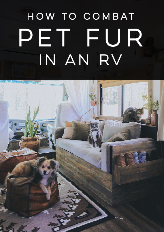 How to combat pet fur in an RV