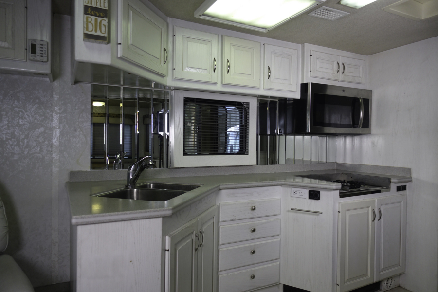 Motorhome Kitchen before reno