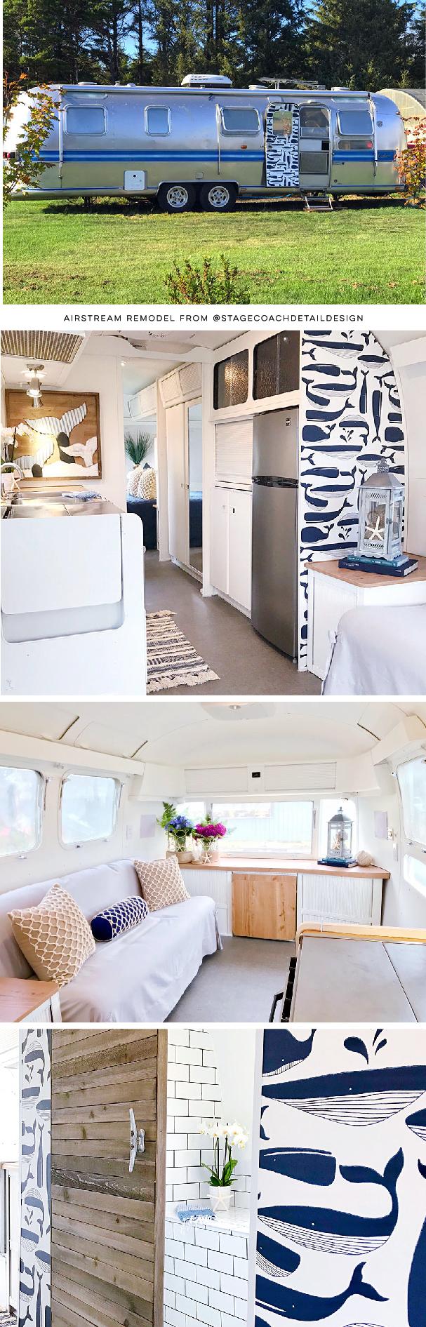 Nautical Airstream Renovation