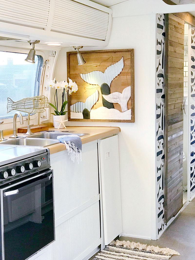 nautical airstream kitchen