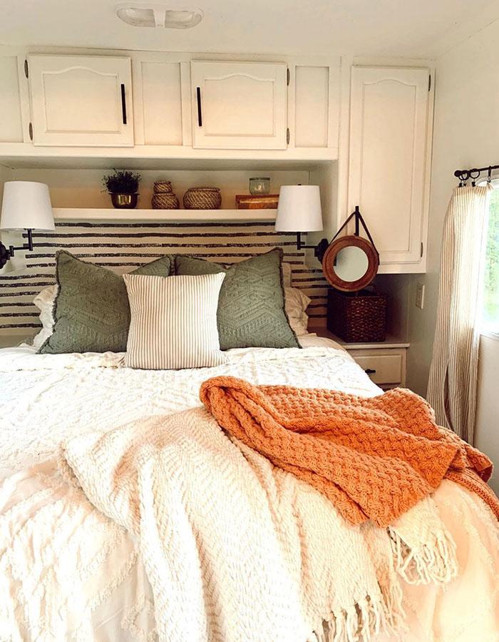 RV Bedroom Renovation from @karleemmarsh