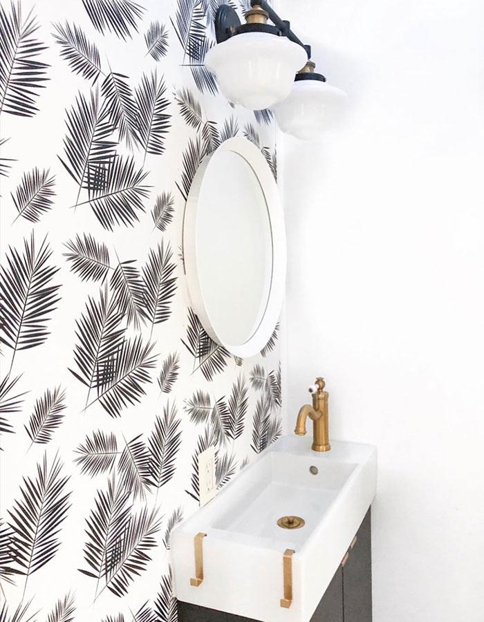 5th wheel bathroom renovation from RV designer @rvfixerupper
