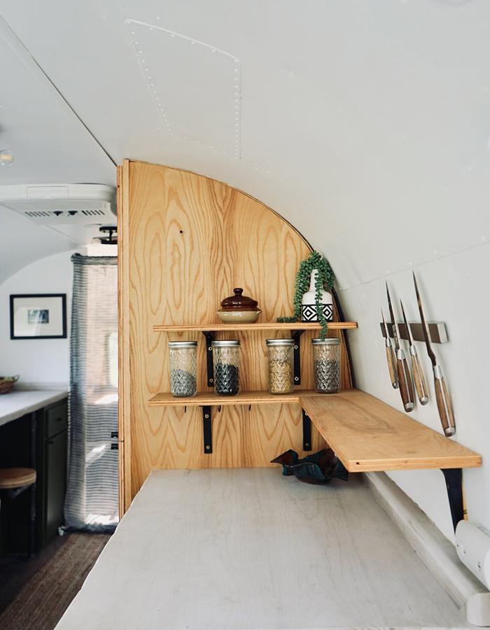 Vintage Airstream Kitchen Renovation