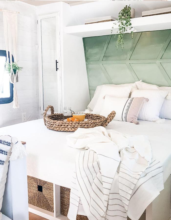 Modern Farmhouse RV Bedroom Renovation