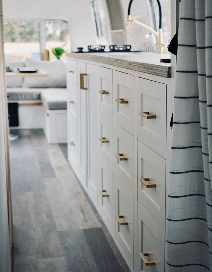 Airstream Kitchen Cabinets Renovation