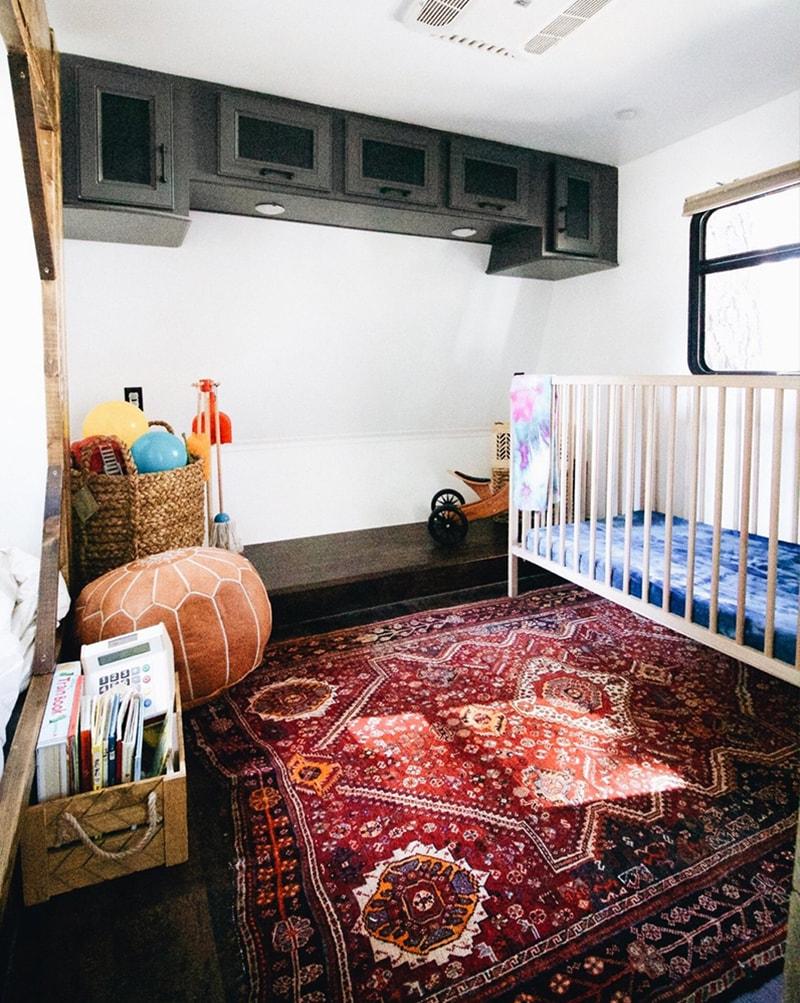 Crib in Toyhauler Kid's Bedroom from Asphalt Gypsy