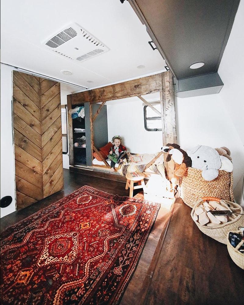 Renovated Toyhauler Kid's Bedroom from Asphalt Gypsy