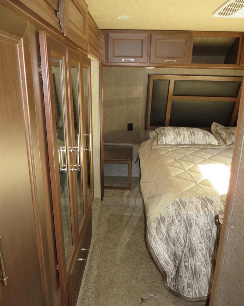 ToyHauler Bedroom Before Photo from Asphalt Gypsy
