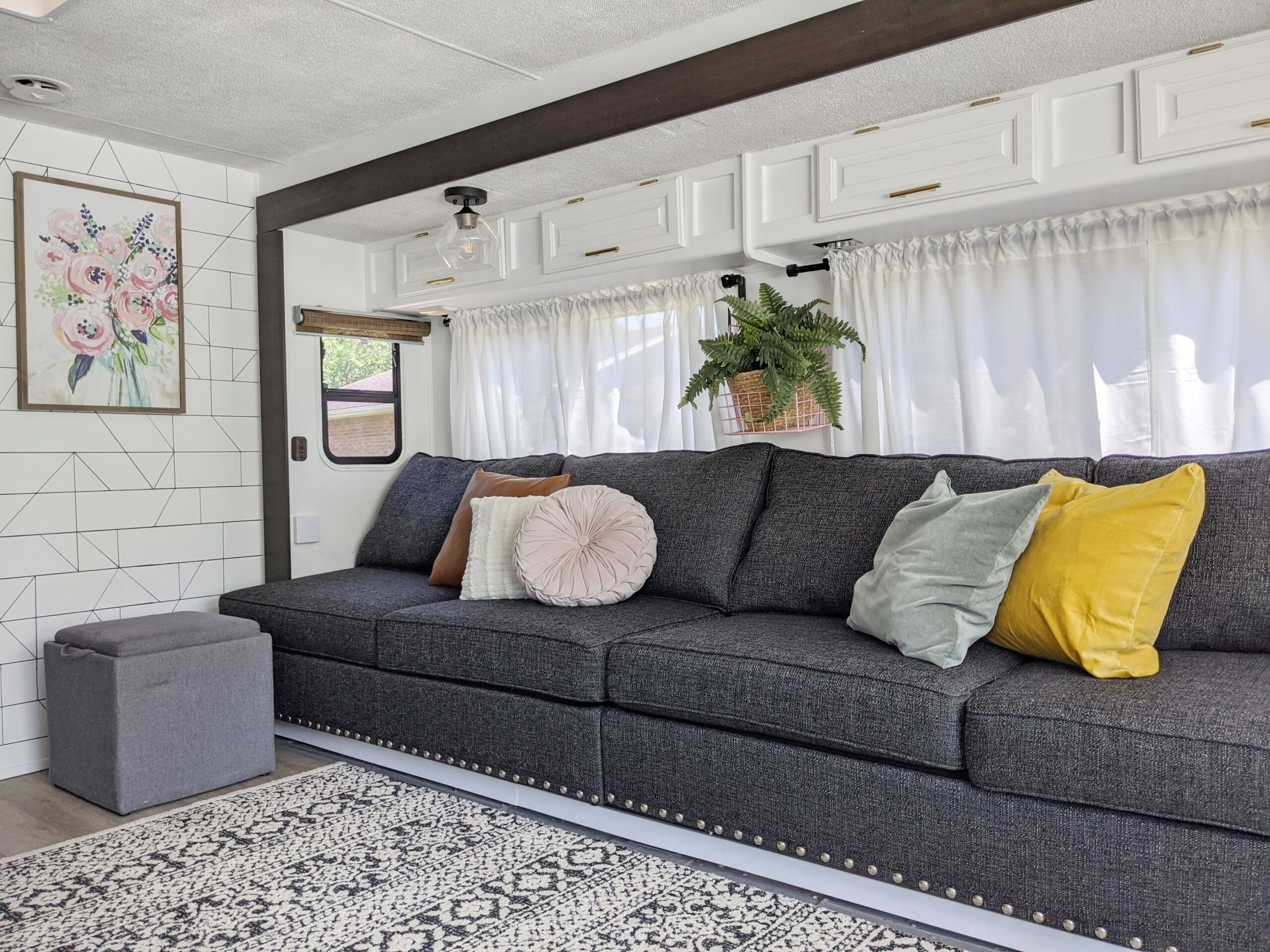 Renovated Motorhome with sharpie wall