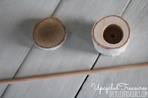 How to Make a Rustic Ring Box out of a birch branch, perfect for a woodland inspired wedding! Plus FREE Wedding Design printable. MountainModernLife.com