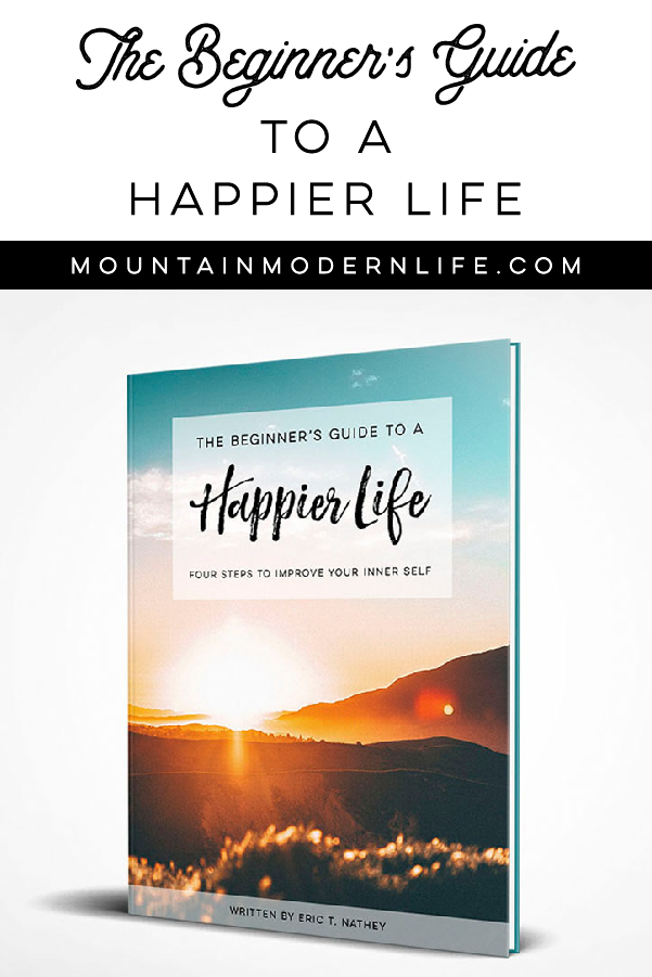 Sunset picture of the book cover The Beginner's Guide to a Happier Life