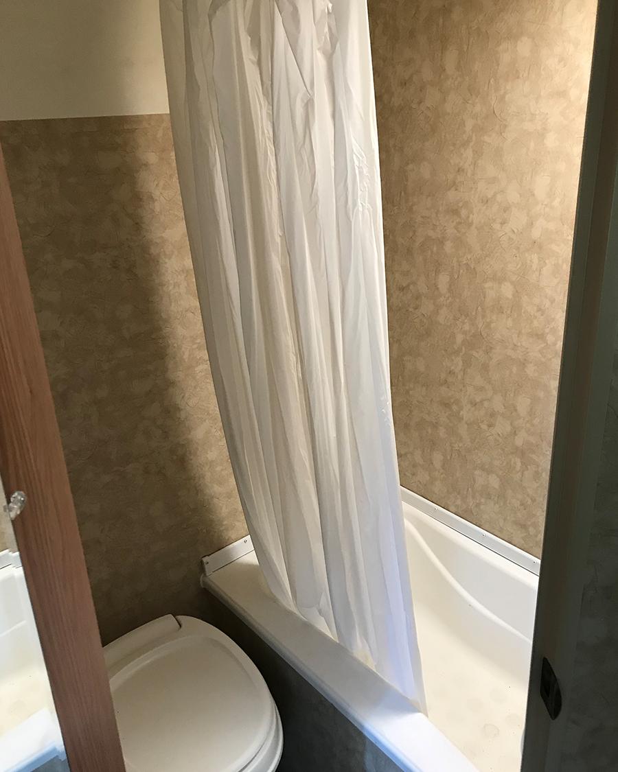 camper bathroom photo before