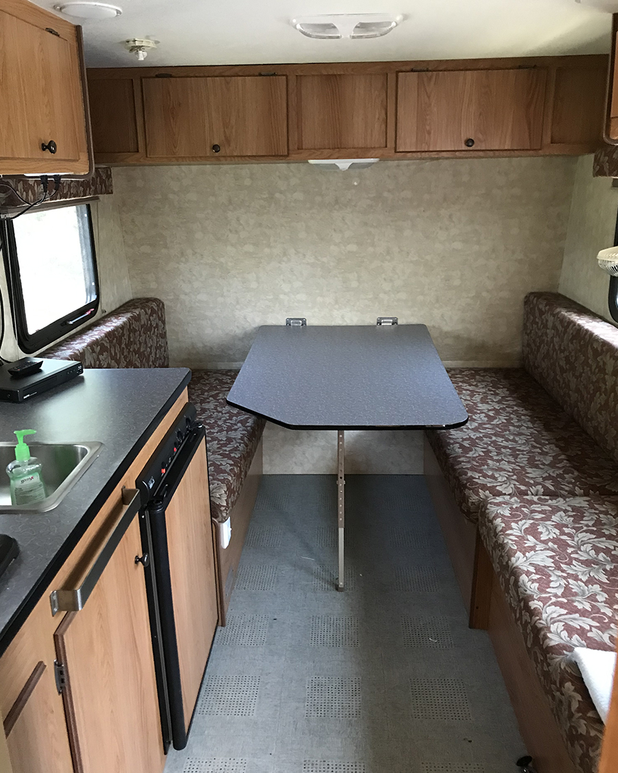 outdated camper interior