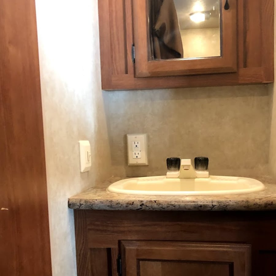 outdated rv bathroom