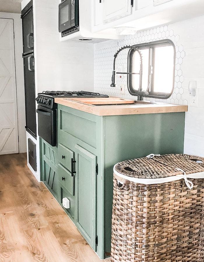 renovated RV kitchen