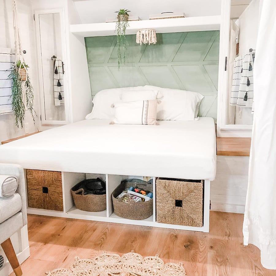 Modern Farmhouse RV bedroom