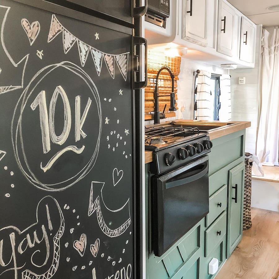 tiny kitchen remodel in RV