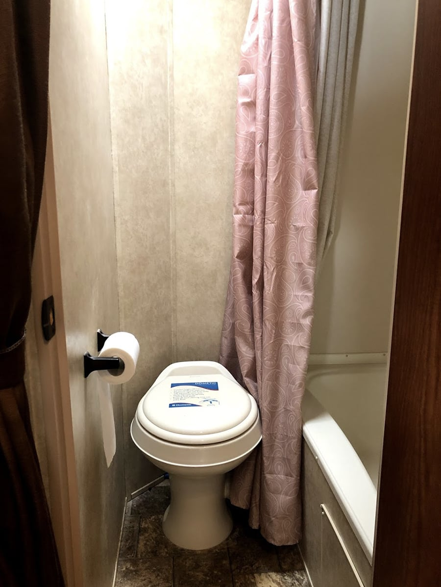 Forest River bathroom before