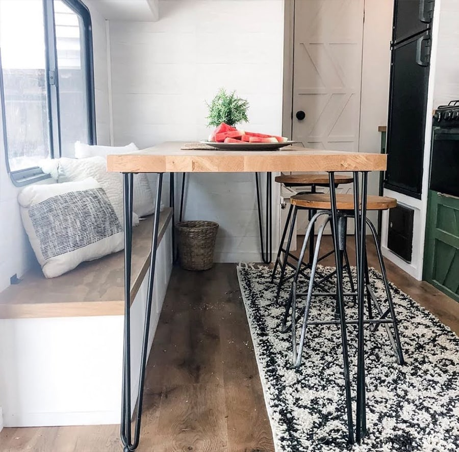 dinette booth replaced by table