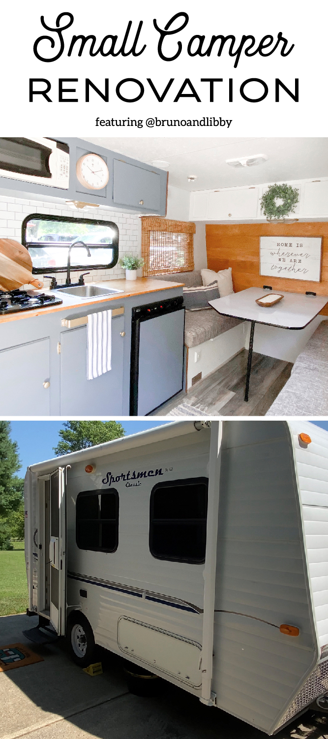 An accountant with a passion for DIY renovated this small camper for her recently retired parents