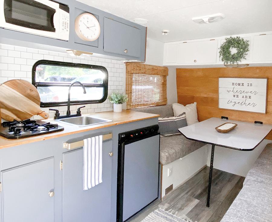 updated camper interior