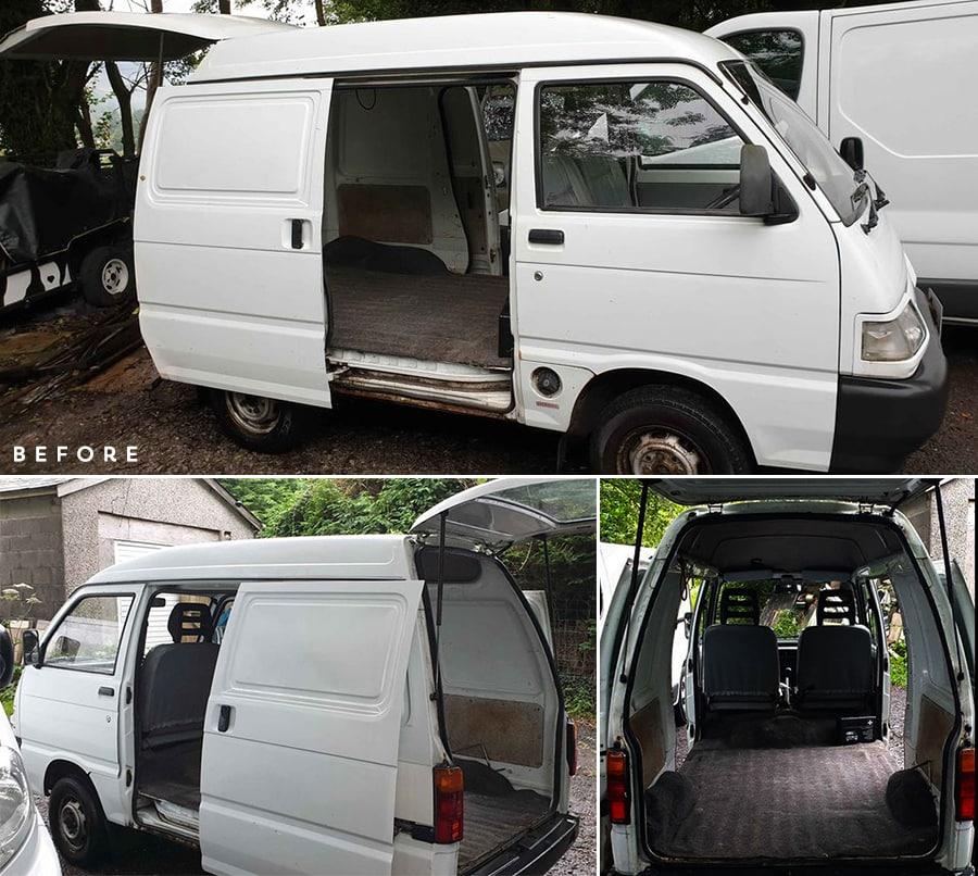 Piaggio Porter van before conversion