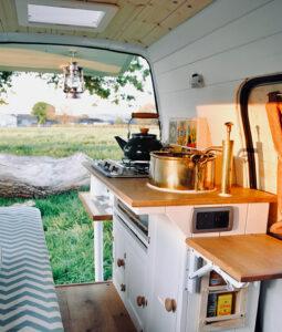 micro camper kitchen renovation