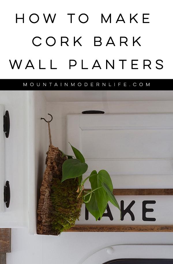 How to Make Cork Bark Wall Planters