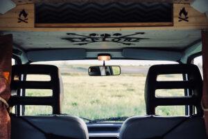 cab area of camper van