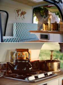 vintage rustic camper van