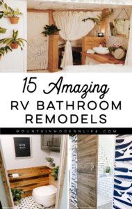 rv bathroom remodels