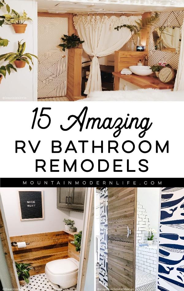 15 RV Bathroom Remodels that prove bigger isn\'t always better