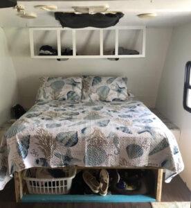 camper bedroom before reno