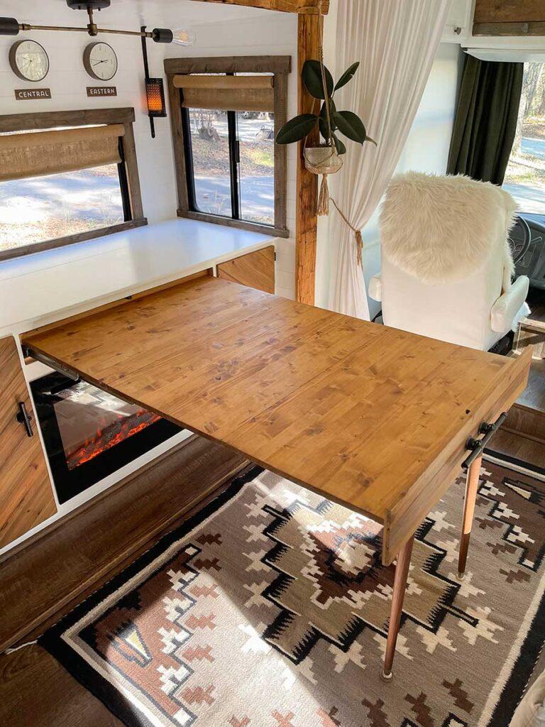 diy extending camper table