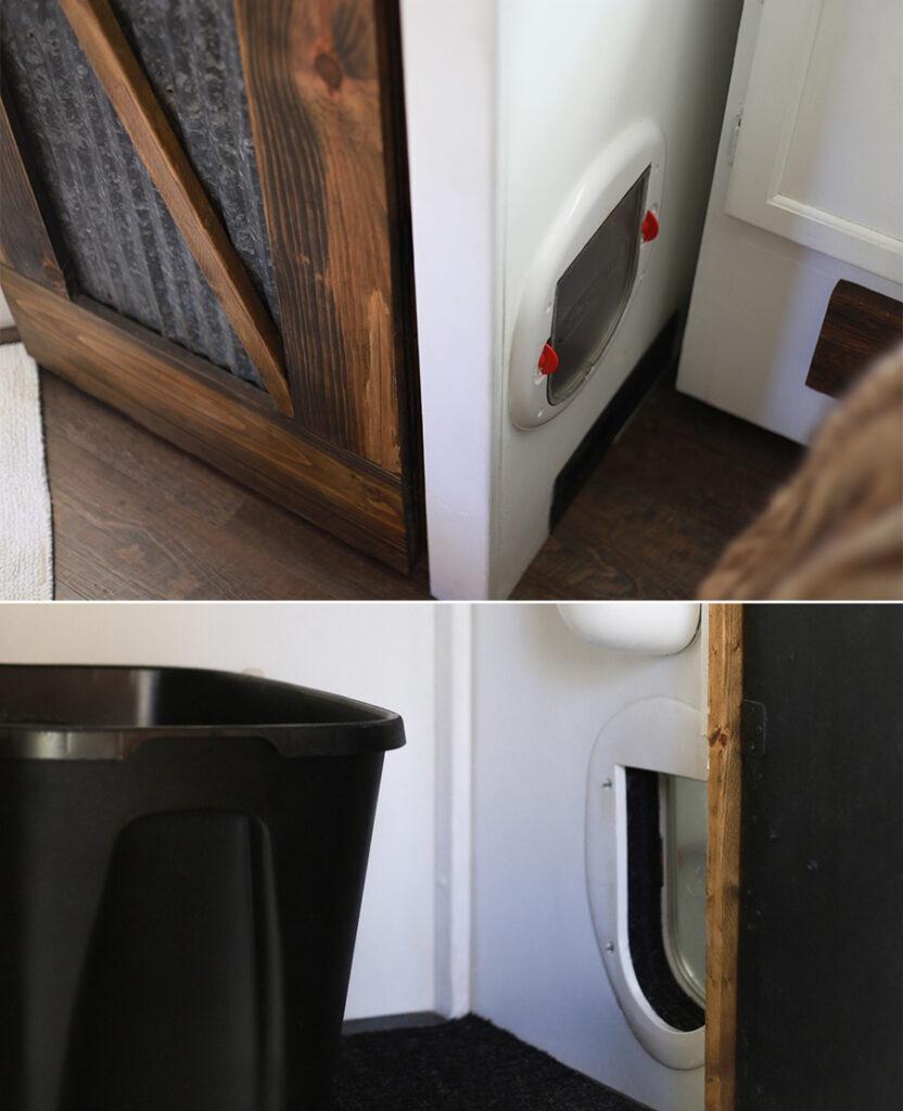 hidden litter box in RV
