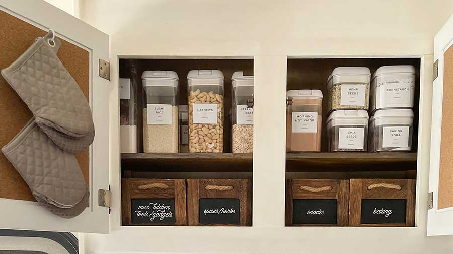RV kitchen pantry storage