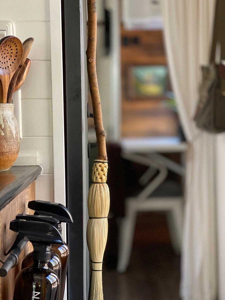 handmade broom for RV